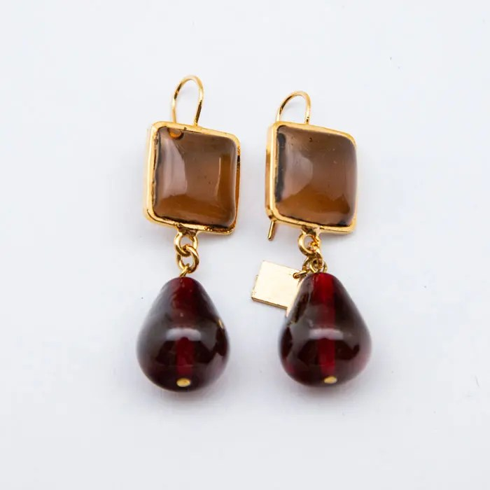 cognac-bordeaux-earring