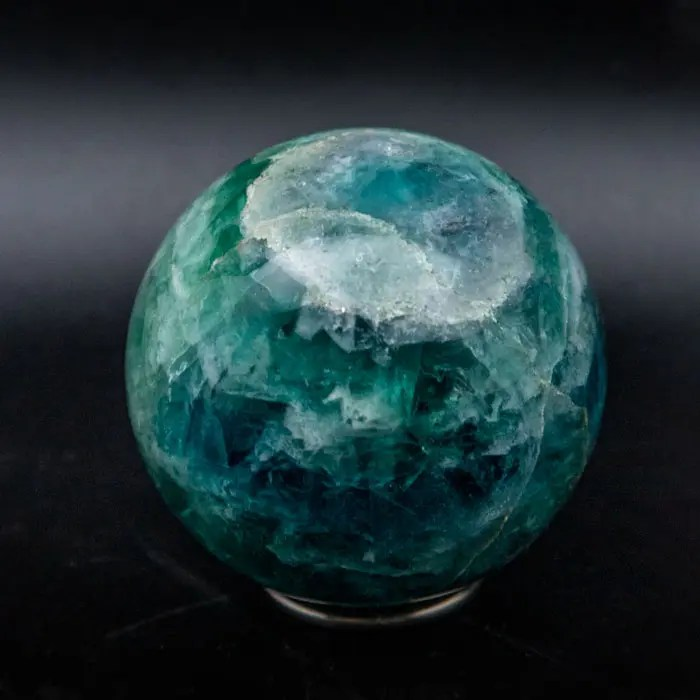green-fluorite-sphere