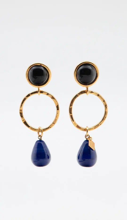 blue-clip-hoop-and-drop-earrings