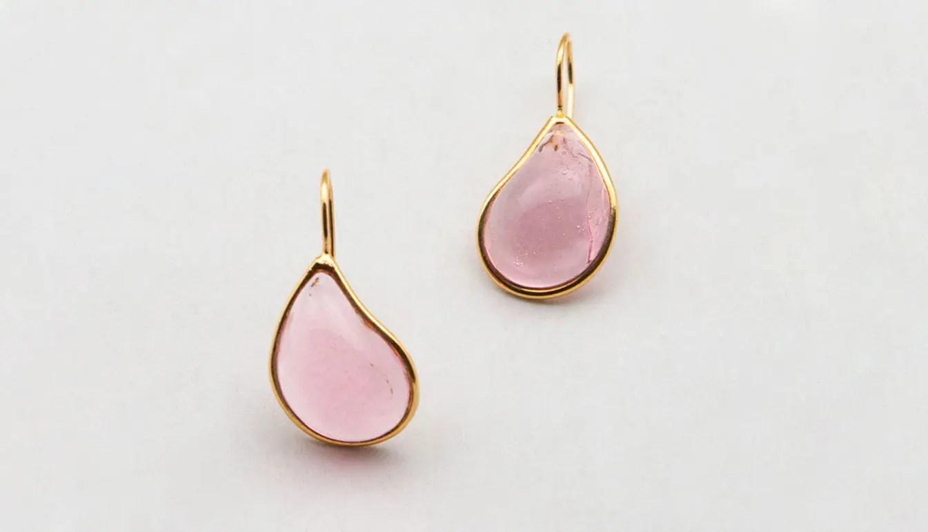 pink-teardrop-earring