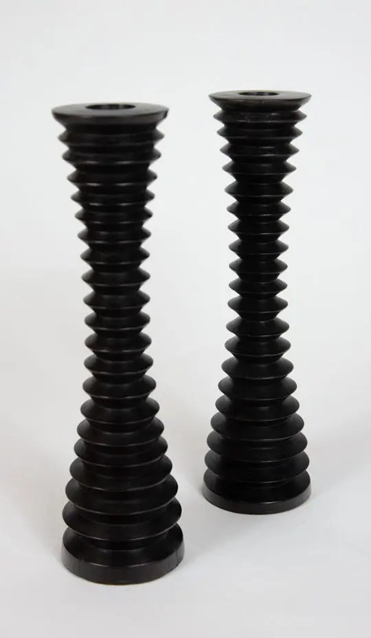 turned-wood-black-candlesticks