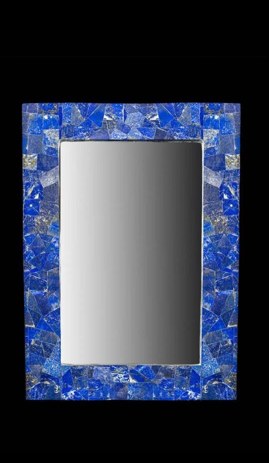 Lapis Lazuli Framed Mirror