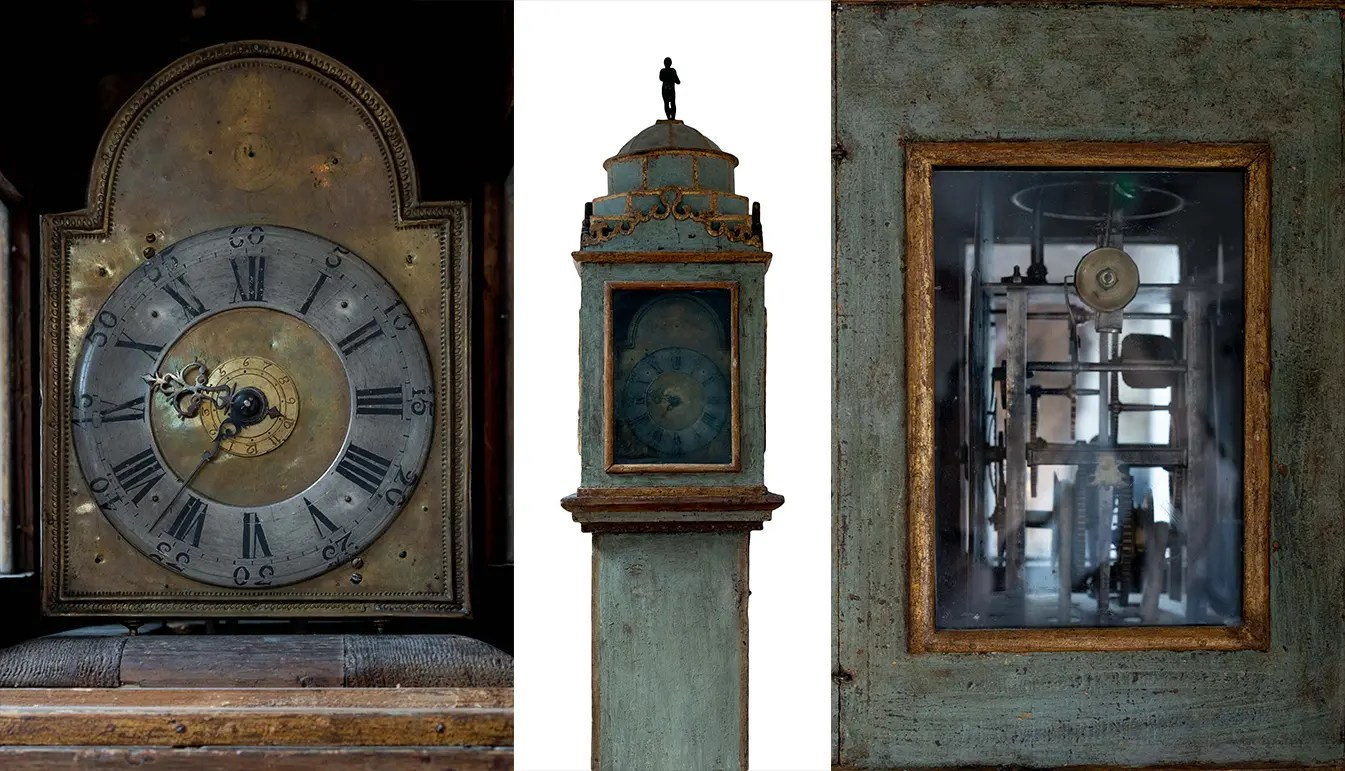 Early 19th Century Painted Continental Clock