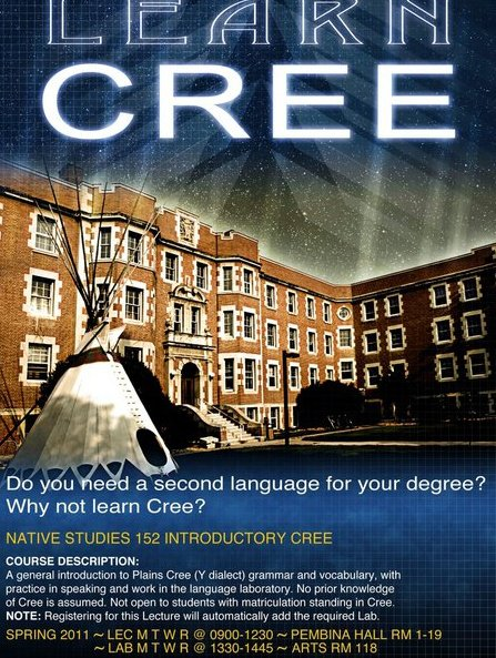 University of Alberta Cree Language Courses