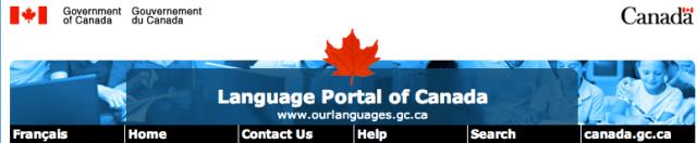 Language Portal Header