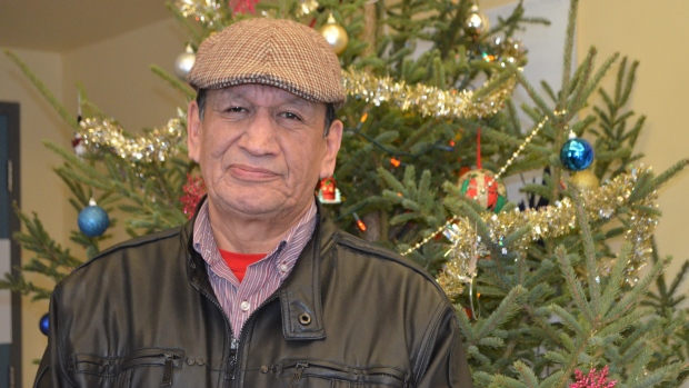 'Pocket Oji-Cree' is a book to help anyone learn his traditional language, but he especially hopes it will encourage youth, said broadcaster and translator Jerry Sawanas. (Amy Hadley )