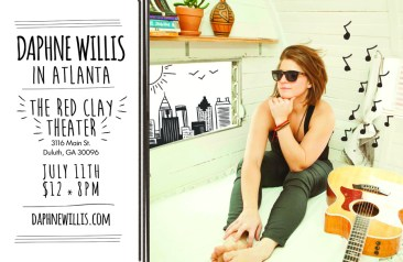 Concert poster for Daphne Willis.