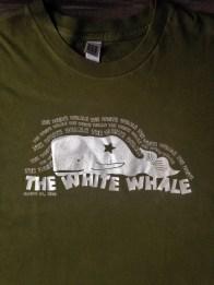 T-shirt design for The Josh Davis Band's debut album, The White Whale.