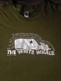 T-shirt design for The Josh Davis Band's debut album, The White Whale.