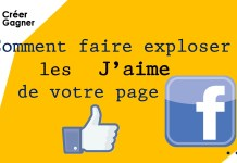 j'aime page facebook creer gagner