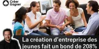 création entreprise jeune