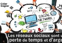 réseaux sociaux créer gagner