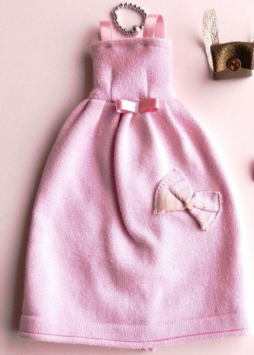 Robe de princesse Barbie avec nœuds, collier et sac à dos en simili cuir doré