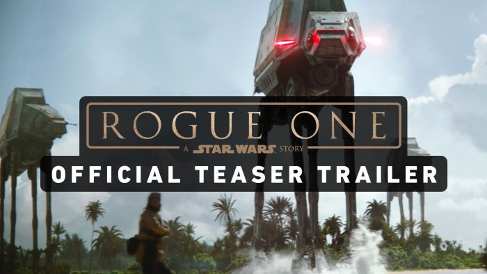 Star Wars Rogue One Trailer Released