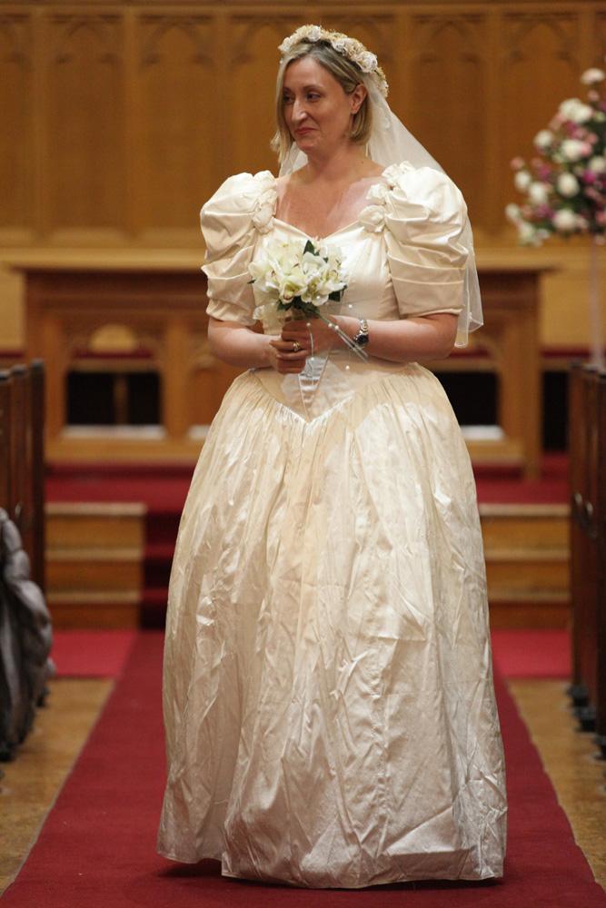 Dawn Wearing The Wedding Dress Of Lyn Gamble 1995 Cregagh