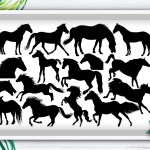 Horse Svg Cut File Animal Svg Silhouette Bundle Crella