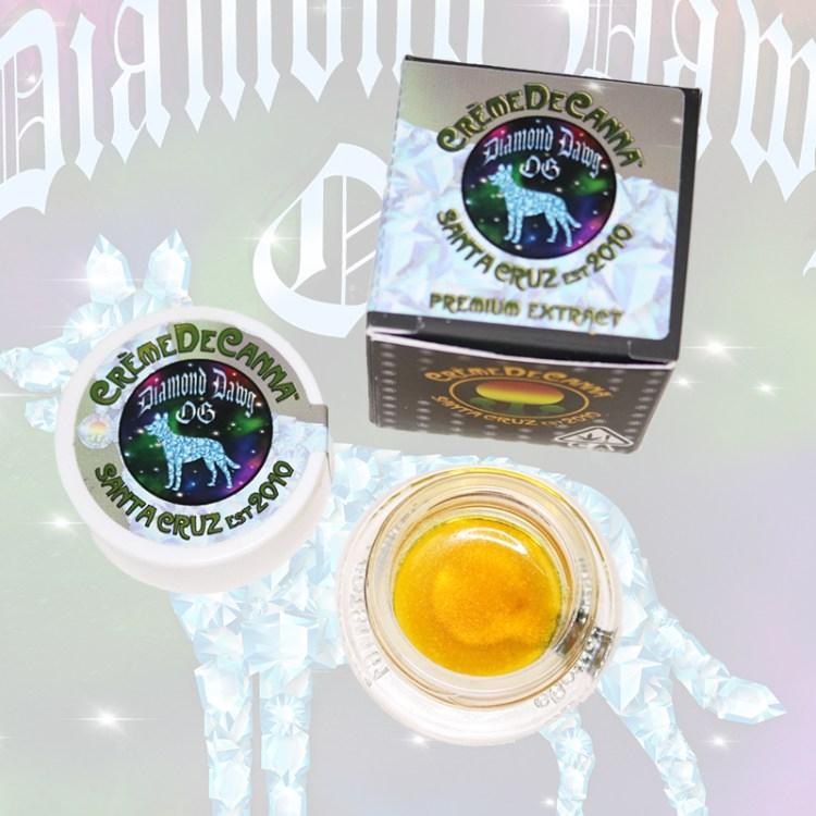 Diamond Dawg Og Cannabis Sauce with link to COA info