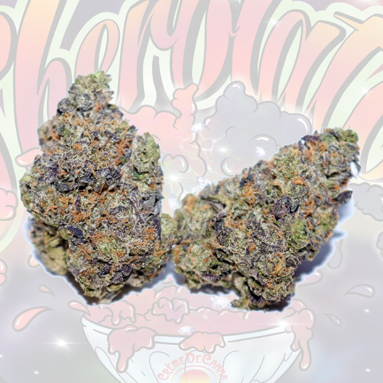 Sherblato Cannabis Flower with link to COA info