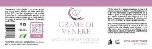 Argilla Verde Creme di Venere Ventilata Dettagli