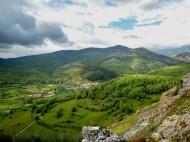 Crémenes en primavera, foto desde los montes de Villayandre el gargayo