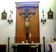 11 sept 2010 4985 magnífico Cristo Crucificado en su altar y sagrario