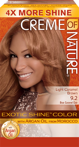 92 Light Caramel Brown Exotic Shine Hair Color Creme Of