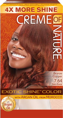 764 Bronze Copper Exotic Shine Hair Color Creme Of Nature