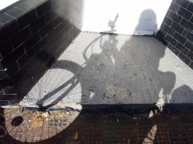 bike, shadow, sun