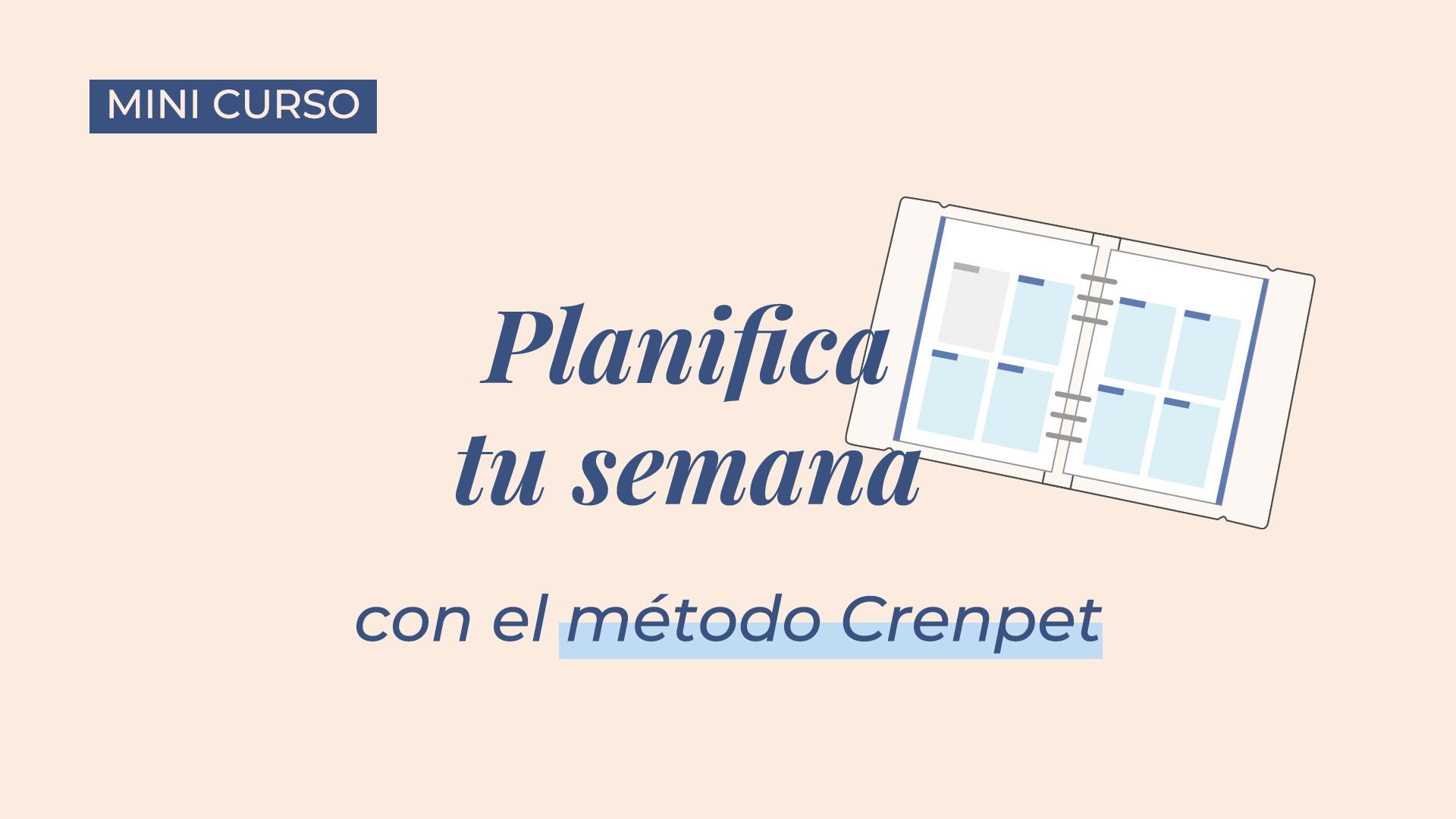 Portada Planifica tu semana con el método Crenpet