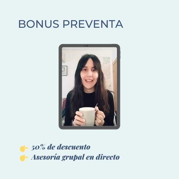 curso diosa productiva bonus preventa