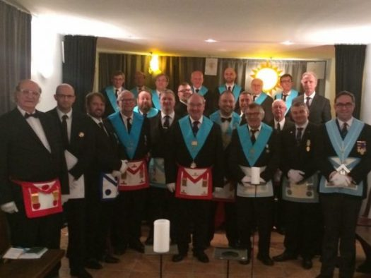 Croydon Freemasons visit Loge Serenite
