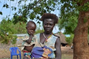 Mother and child affected by food Crisis