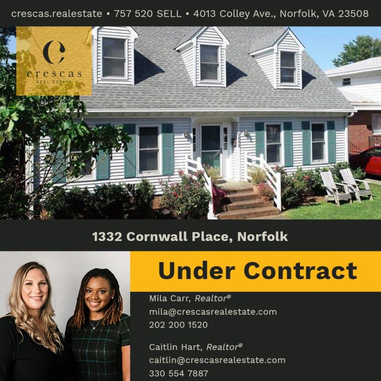 1332 Cornwall Place Norfolk - Under Contract