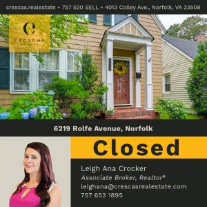 6219 Rolfe Avenue Norfolk - Closed
