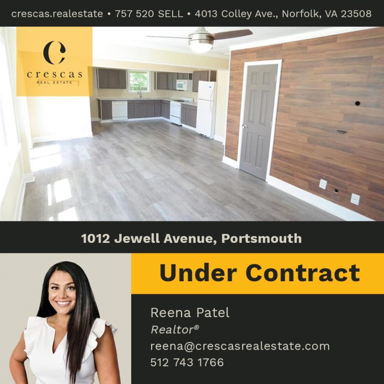 1012 Jewell Avenue Portsmouth - Under Contract
