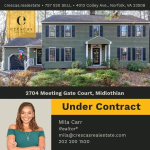 2704 Meeting Gate Court Midlothian - Under Contract