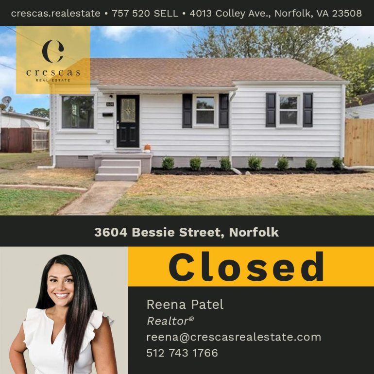 3604 Bessie Street Norfolk - Closed