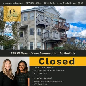 479 W Ocean View Avenue Unit A Norfolk - Closed