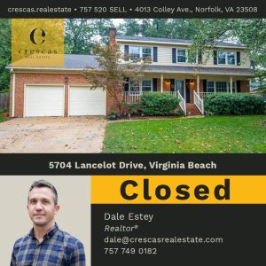 5704 Lancelot Drive Virginia Beach - Closed