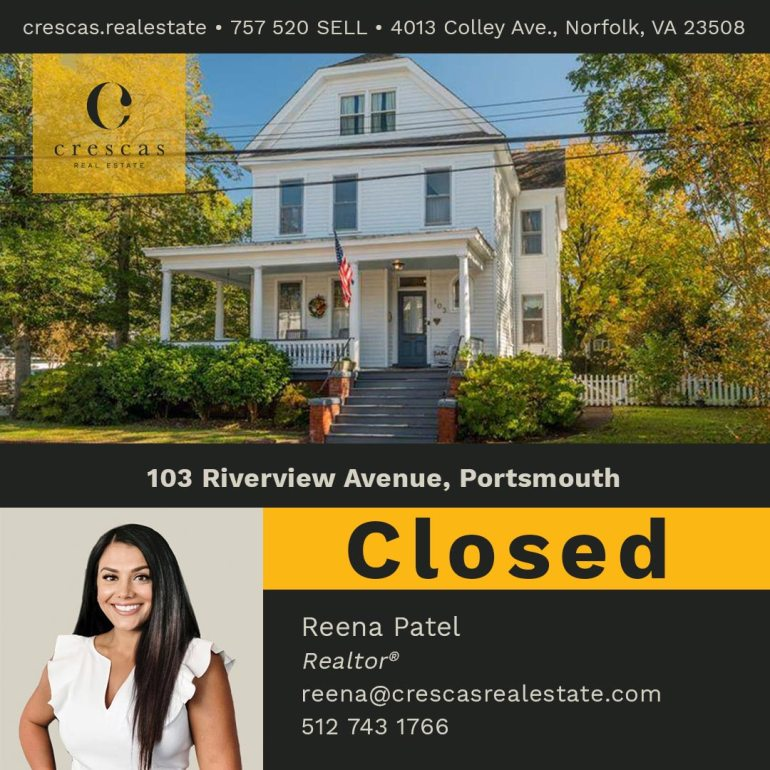 103 Riverview Avenue Portsmouth - Closed