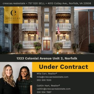 1323 Colonial Avenue Unit 2 Norfolk - Under Contract