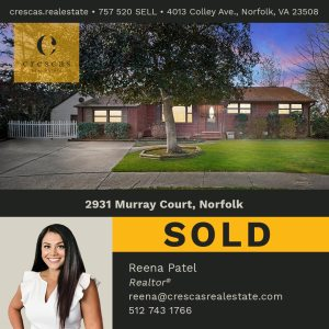 2931 Murray Court Norfolk - Sold