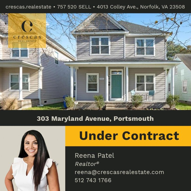 303 Maryland Avenue Portsmouth - Under Contract
