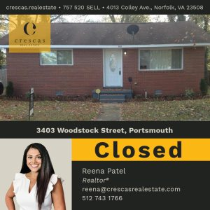 3403 Woodstock Street Portsmouth - Closed