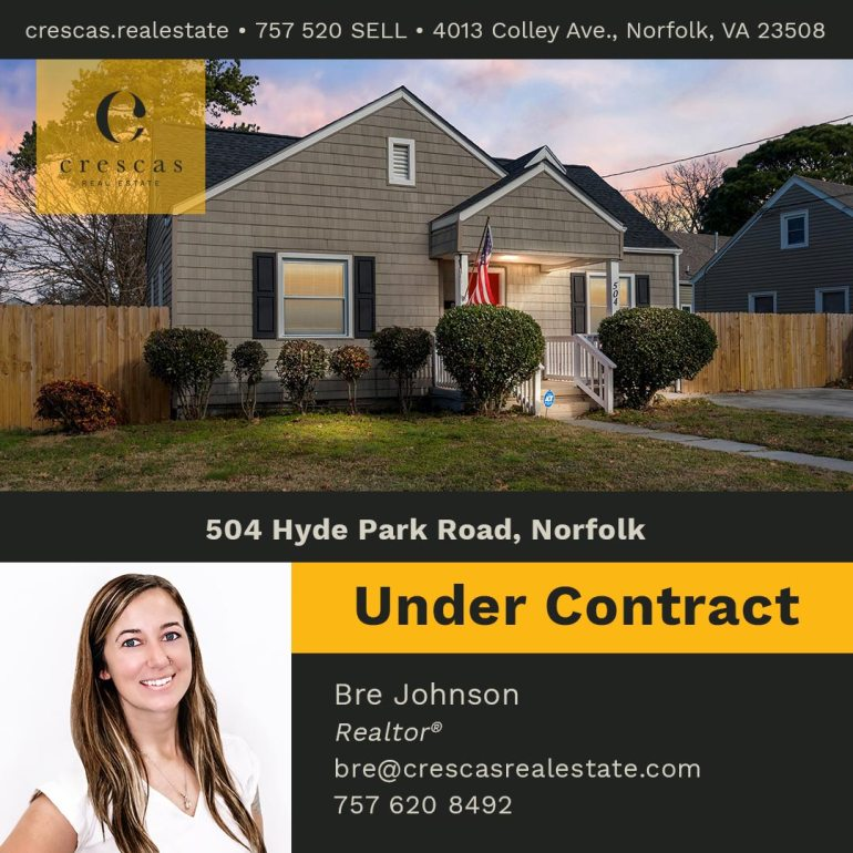 504 Hyde Park Road Norfolk - Under Contract