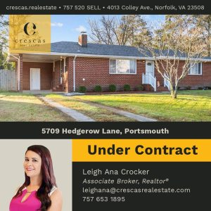 5709 Hedgerow Lane Portsmouth - Under Contract