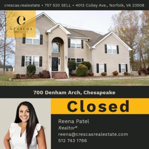 700 Denham Arch Chesapeake - Closed
