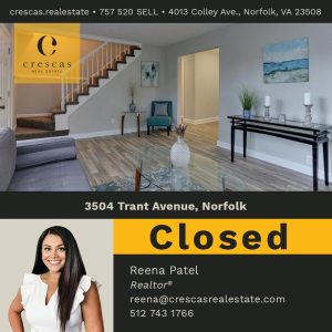 3504 Trant Avenue Norfolk - Closed