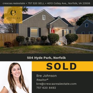 504 Hyde Park Norfolk - Sold