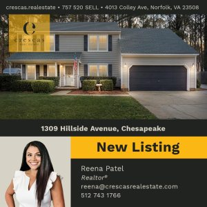 1309 Hillside Avenue Chesapeake - New Listing